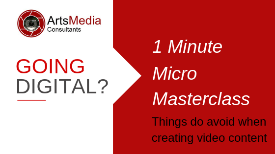 Things to avoid when creating video content